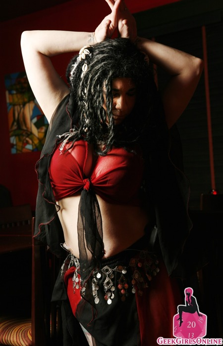 Pixie Bruner the belly dancing geek girl