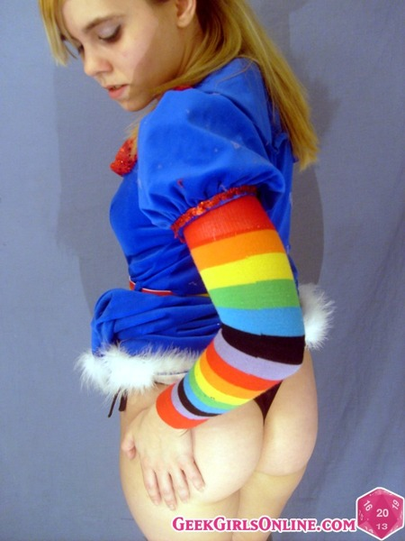 Athena Hollow as the naughtiest Rainbow Bright!