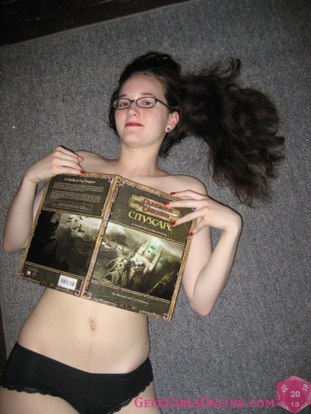 Gamer Girl, Vivian Winters, shows off her best assests. And were not just talking about her Gamecube and Dungeons and Dragons Collection.