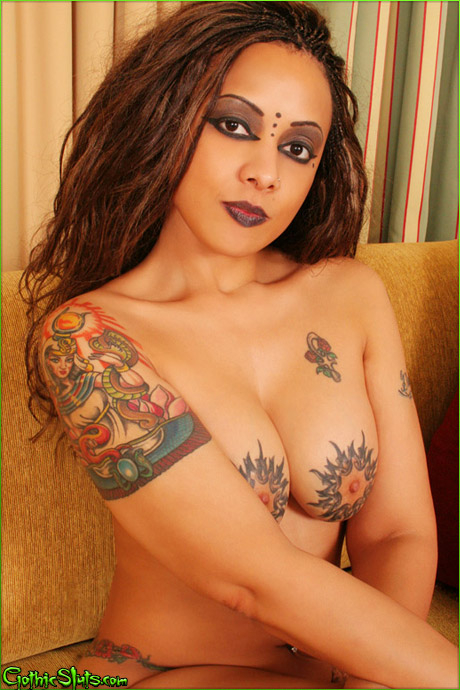 Was specially Sexy nude tattooed goth women
